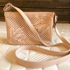 Vegan leather dusky pink crossbody